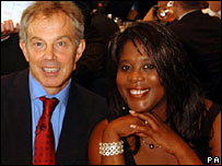 Tony Blair and Olympic Gold medallist Tessa Sanderson