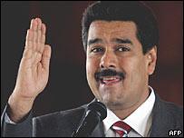 El canciller de Venezuela Nicolás Maduro.
