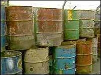 Waste drums. Image: BBC