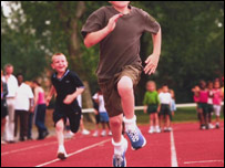 Children at a sports day