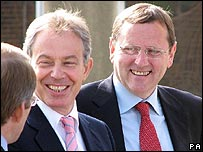 Tony Blair and Phil Wilson