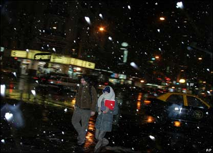 Snow in Buenos Aires