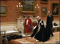 La reina en un fotograma de la secuencia polémica