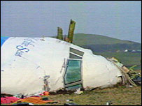 Lockerbie crash scene