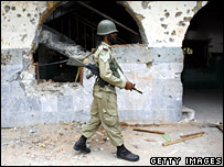 Pakistani soldier in the Red Mosque