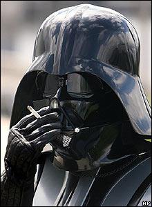 Darth Vader smoking