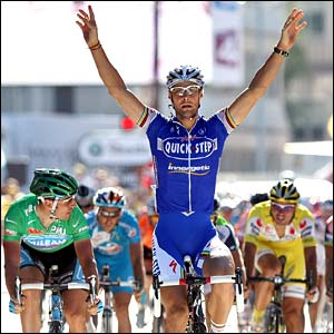 Tom Boonen wins stage six