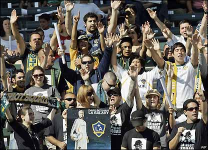 Galaxy fans prepare for Beckham's arrival
