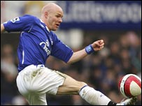 Everton forward Andy Johnson