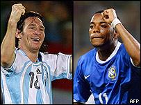 Messi y Robinho