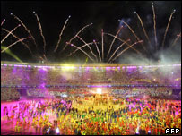 General view of the opening of the Pan American Games Rio, 2007