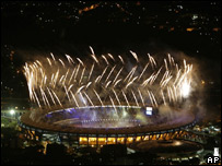 General view of the opening of the Pan American Games Rio, 13 July 2007
