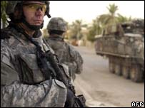 US troops in Iraq. File picture