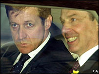 Former aide Alastair Campbell and Tony Blair