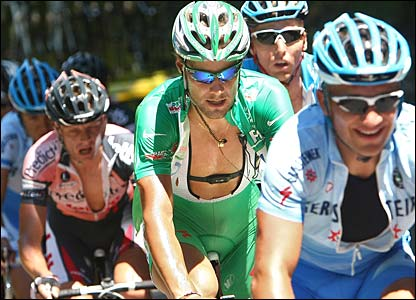 Tom Boonen in the green jersey