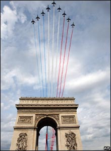 Jets over the Arc de Triomphe
