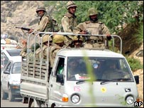 Pakistani troops in North Waziristan