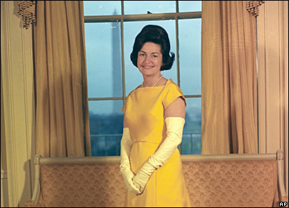 Lady Bird Johnson at the White House in 1965