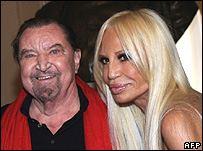 Maurice Bejart and Donatella Versace