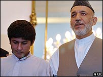Rafiqullah with Hamid Karzai