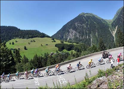 Riders in the Alps