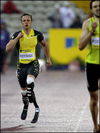 Oscar Pistorius struggles to close the gap on his rivals