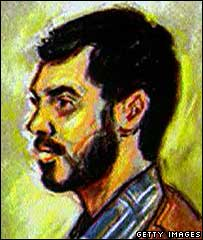 Mohammed Haneef, court sketch 16 July 2007