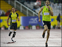 Oscar Pistorius and Martyn Rooney