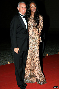 Santo Versace, the Versace Group's president, and model Naomi Campbell