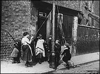 Victorian children playing in the street
