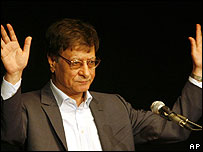 Celebrated Palestinian poet Mahmoud Darwish