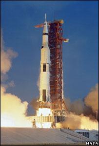 Apollo 11 mission to the Moon (Image: Nasa)