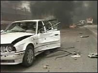 Scene of one of the blasts