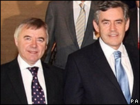 Ieuan Wyn Jones and Gordon Brown