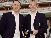 Nasser Hussain and Chris Schofield