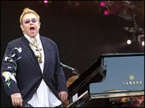Sir Elton John in Inverness. Picture by Andrew Smith