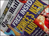 Mail on Sunday with free Prince CD