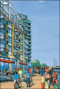 Artist's impression of development (Poole Borough Council)