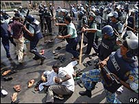 Protest in Bangladesh in 2006