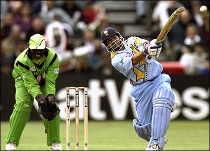 Sachin at the 1999 World Cup. Tendulkar enjoys tremendous success in one-day