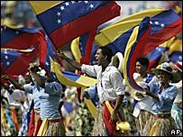 Bailarines en la ceremonia de clausura de la Copa Am�rica Venezuela 2007