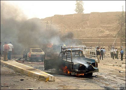 Charred wreck in Kirkuk