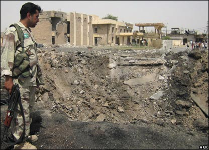 Bomb site in Kirkuk.