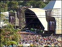 The Pyramid stage at Glastonbury Festival