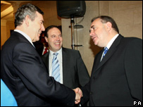 Gordon Brown meets Alex Salmond