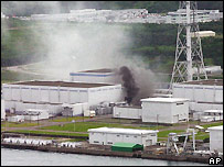 The fire at the Kashiwazaki plant was put out after several hours