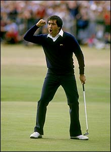 Seve celebrates winning the Open at St Andrews in 1984