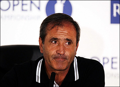 Seve Ballesteros announces his retirement at the 2007 Open Championship