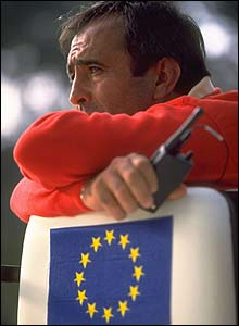 Seve watches the Ryder Cup in 1997 as a non-playing captain