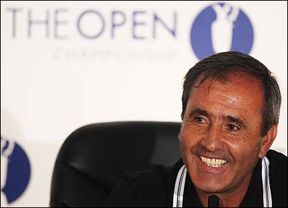 Ballesteros announces his retirement at Carnoustie in July 2007